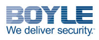 text reads Boyle We deliver security